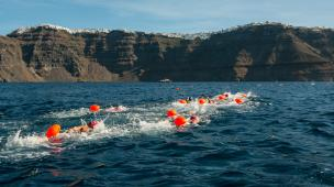 Open Water Swimming @ Santorini Experience (photo by Babis Giritziotis)